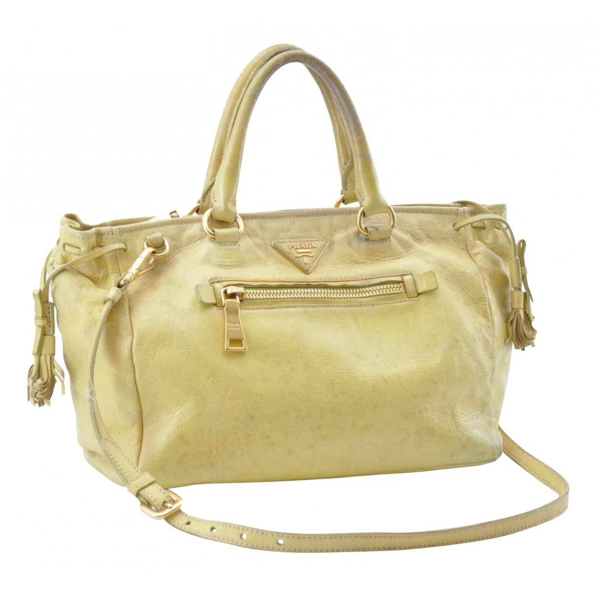 Prada N Yellow Leather handbag for Women N