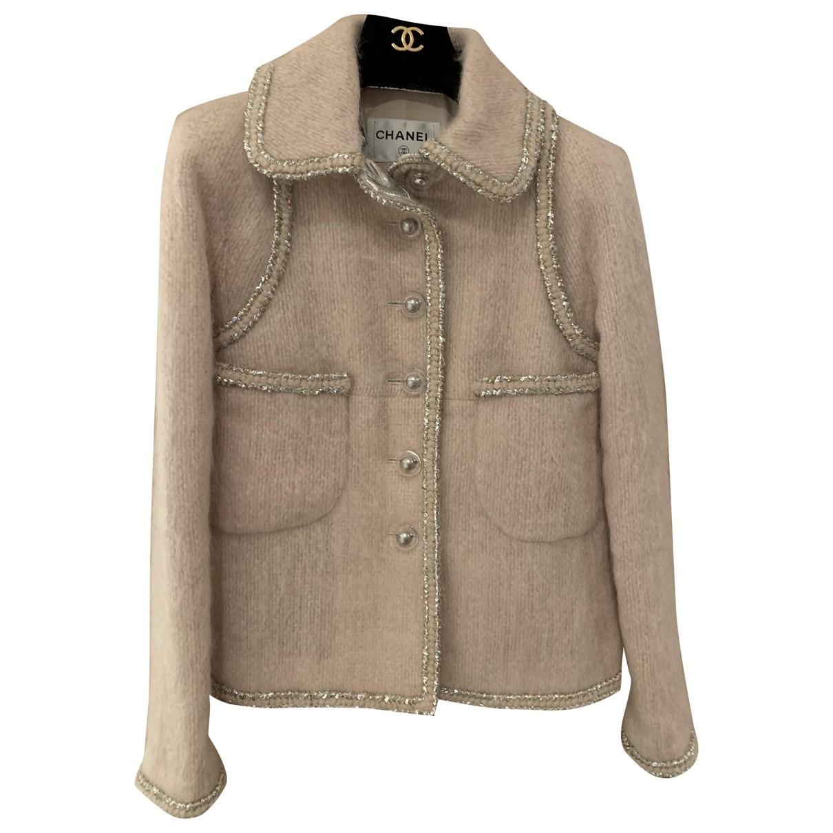 Chanel - Veste   pour femme en tweed - rose