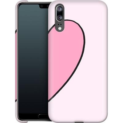 Huawei P20 Smartphone Huelle - Half Heart Right von caseable Designs