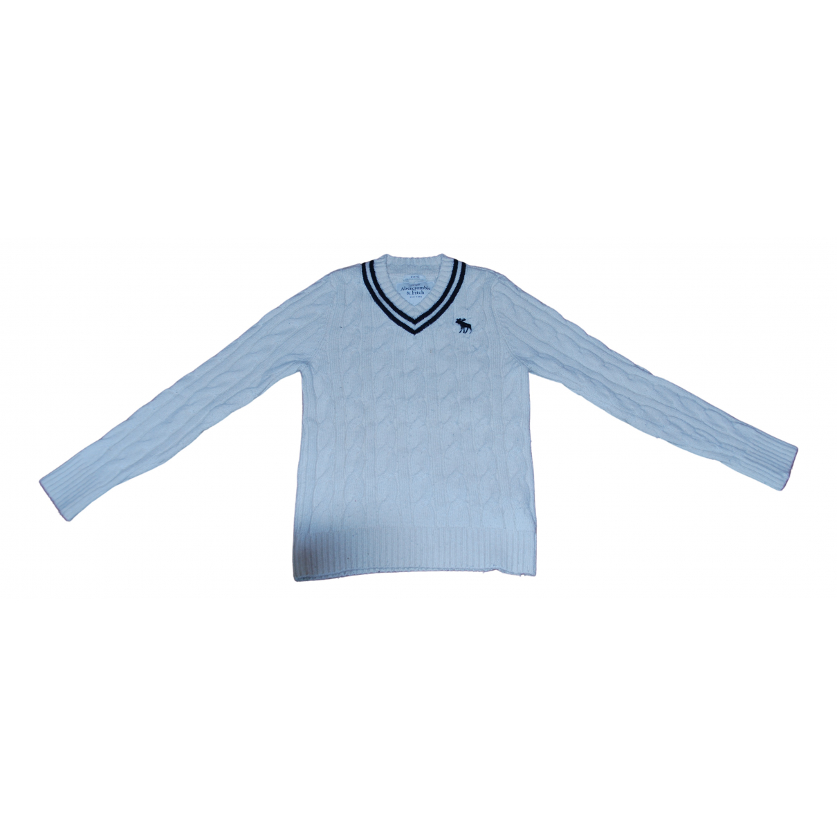 Abercrombie & Fitch \N Pullover.Westen.Sweatshirts  in  Weiss Wolle