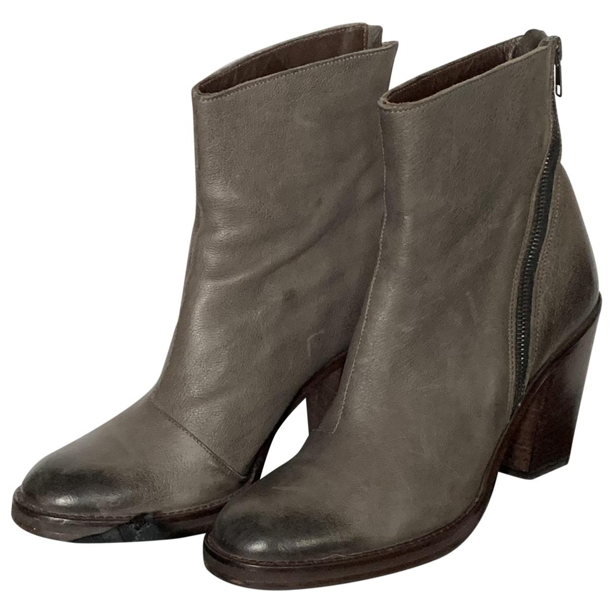 Paul Smith - Boots   pour femme en cuir - gris