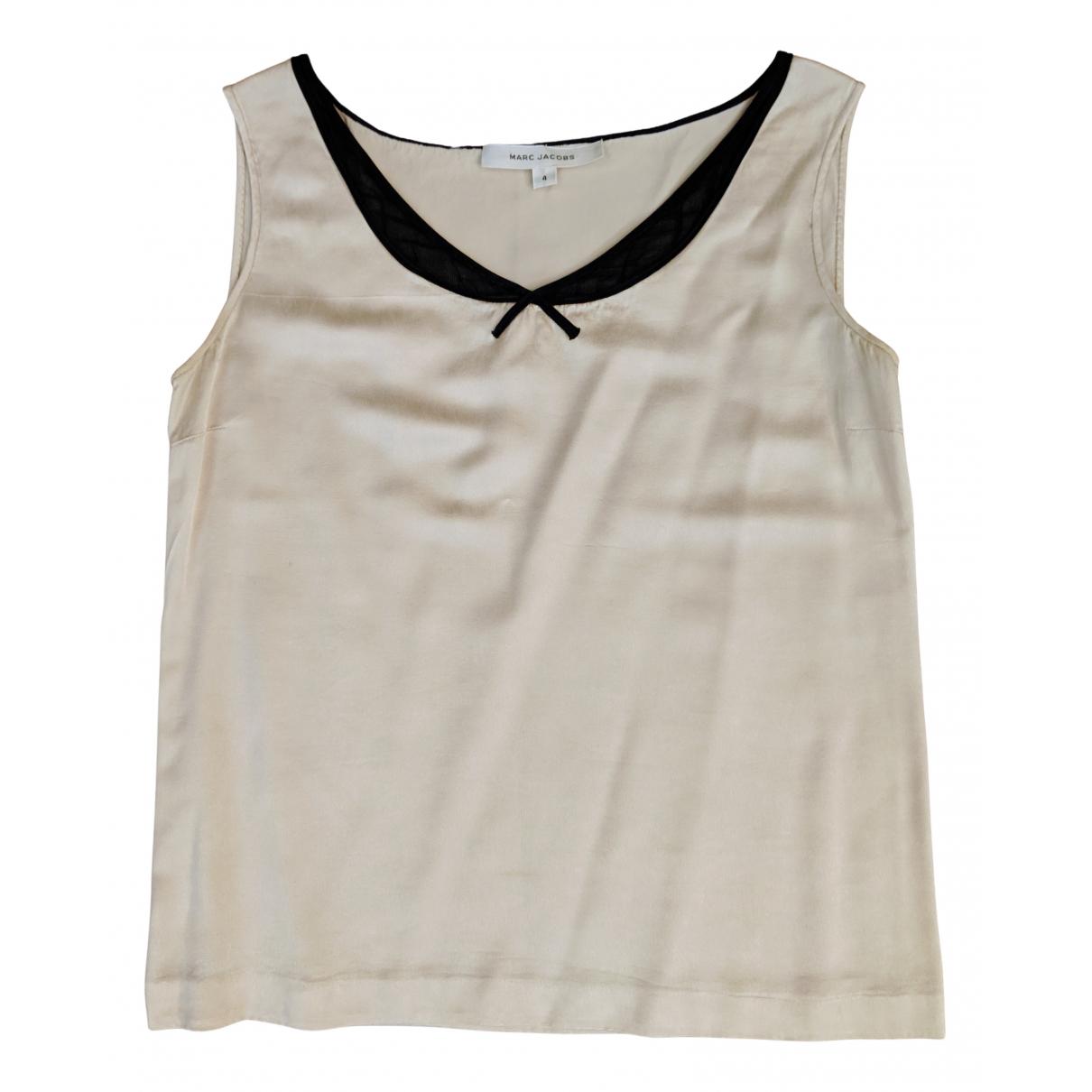 Marc Jacobs - Top   pour femme en soie - ecru