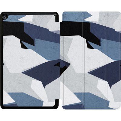 Amazon Fire HD 8 (2018) Tablet Smart Case - Geometric Camo Blue von caseable Designs