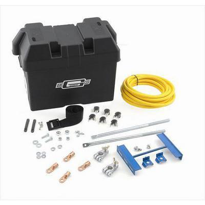 Mr. Gasket Company Battery Installation Kit (Black) - 6279