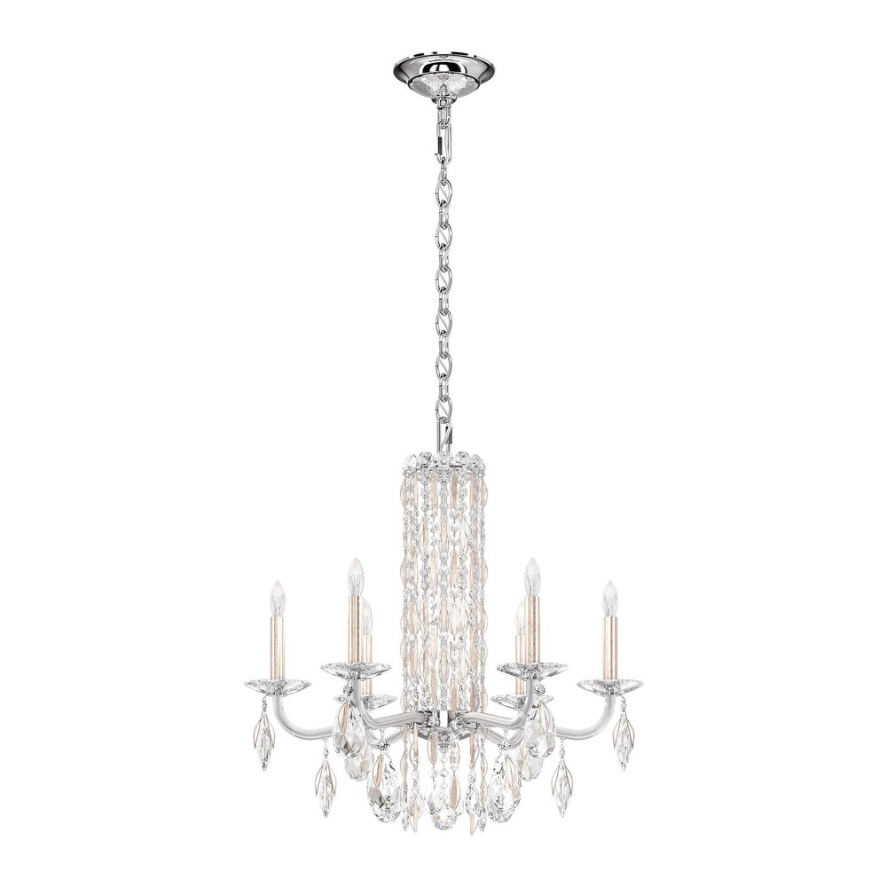 Bella Rose 10 Light Chandelier in Heirloom Gold with Clear Spectra Crystal - One Size (One Size - Clear)