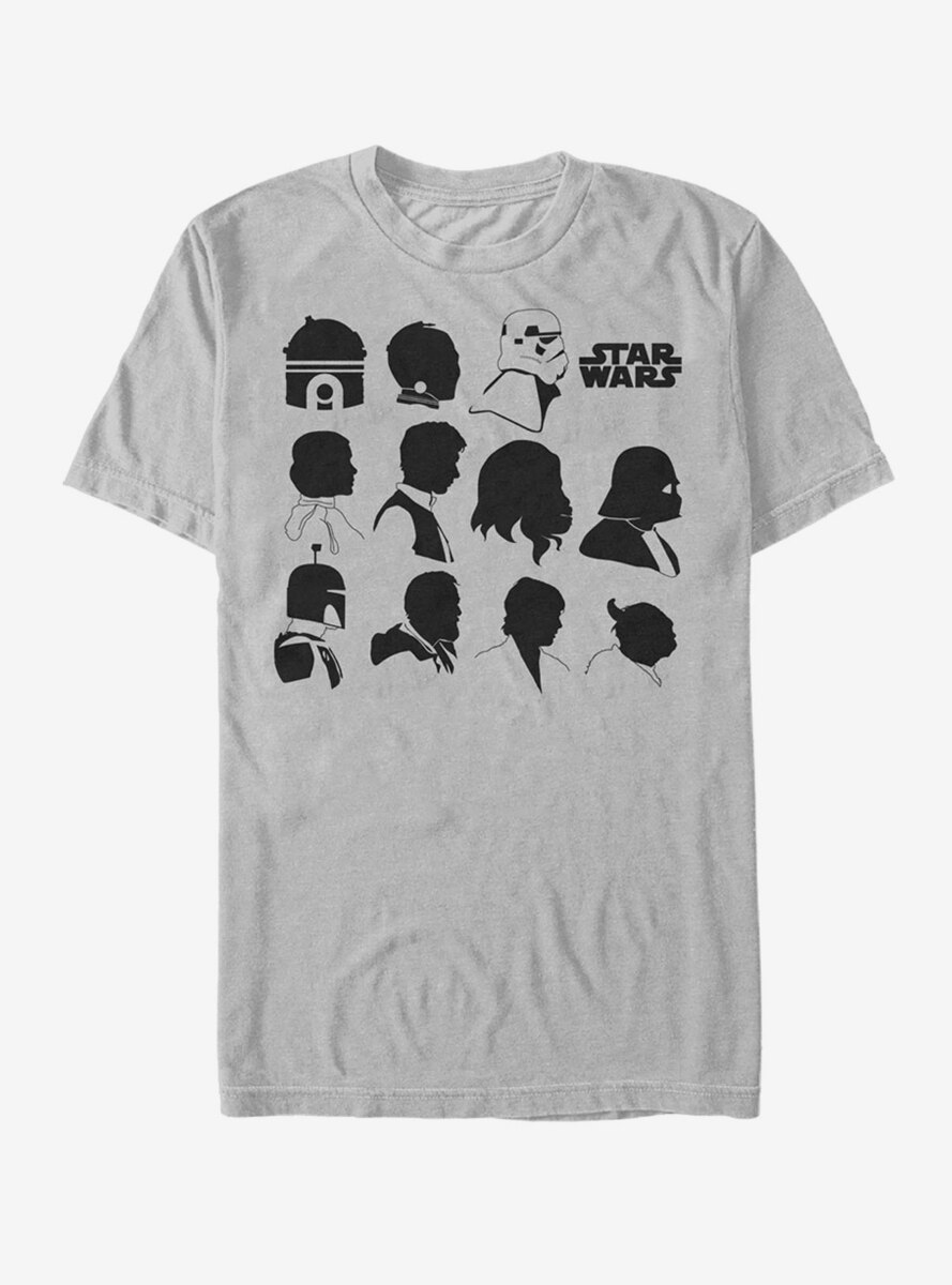 Star Wars Character Silhouettes T-Shirt