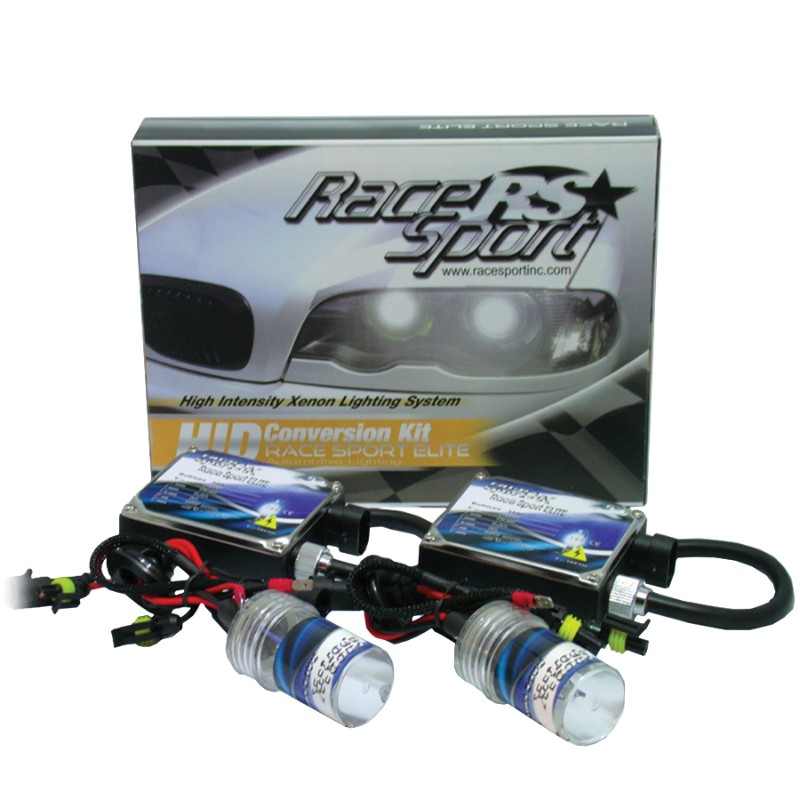 Race Sport Lighting H10-12K-SB H10 HID 12K AC Regular Ballast Kit