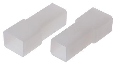 TE Connectivity AMP FASTIN-FASTON Series, 1 Way Nylon 66 Crimp Terminal Housing, 6.35mm Tab Size, Natural (25)