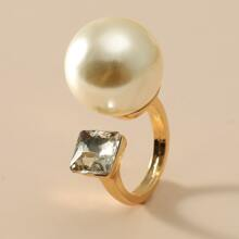 Faux Pearl Decor Ring