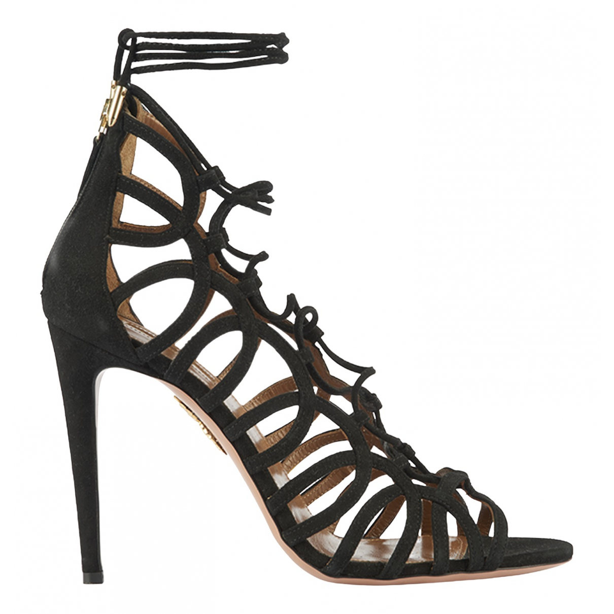 Aquazzura N Black Suede Sandals for Women 7 UK