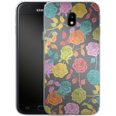 Samsung Galaxy J3 (2017) Silikon Handyhuelle - Roses von Bianca Green