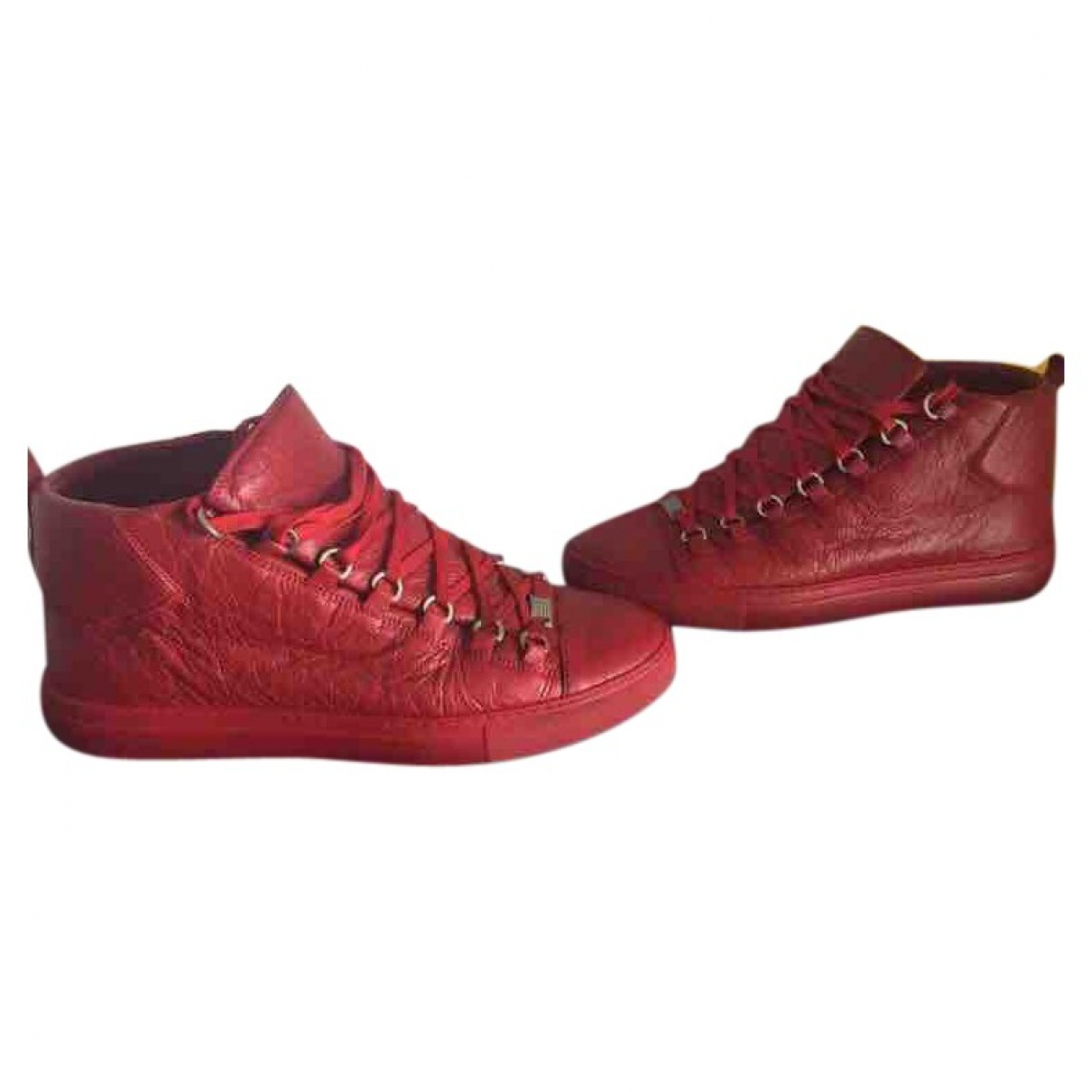 Balenciaga Arena Red Patent leather Trainers for Men 43 EU