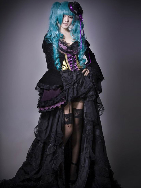 Milanoo Vocaloid Hatsune Miku Halloween Cosplay Costume The Grave Of The Scarlet Dragon Halloween