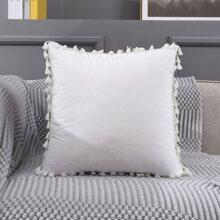 Tassel Decor Cushion Cover Without Filler