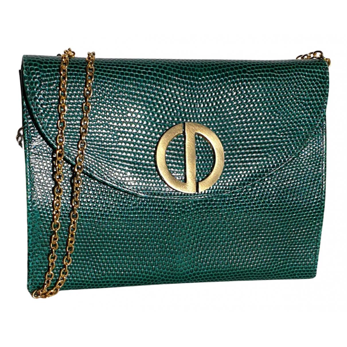 Dior N Green Lizard Clutch bag for Women N