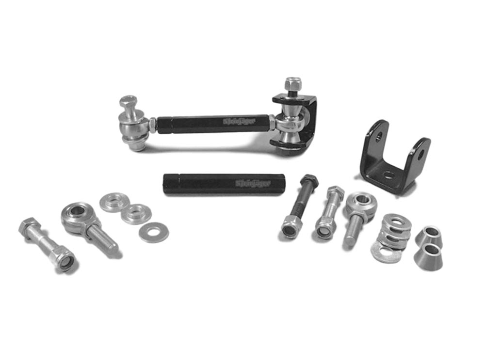 Steinjager J0016527 Drop Clevises Included Sway Bar End Links M12 x 1.75 183mm Long Steel Housing, PTFE Race Heims Powder Coated Steel Tube