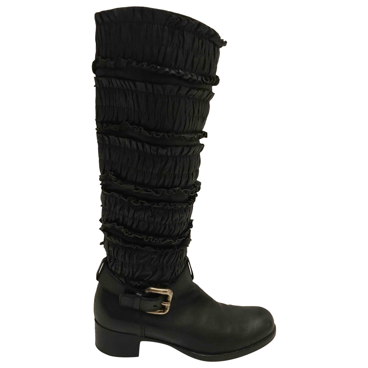 Miu Miu \N Black Leather Boots for Women 36 EU
