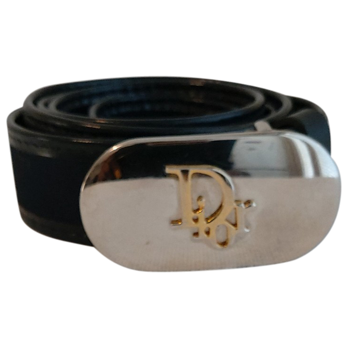 Dior N Blue Leather belt for Women M International