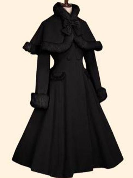 Milanoo Sweet Lolita Coats Olive Butterfly OvercoatCloak Synthetic Lolita Outwears