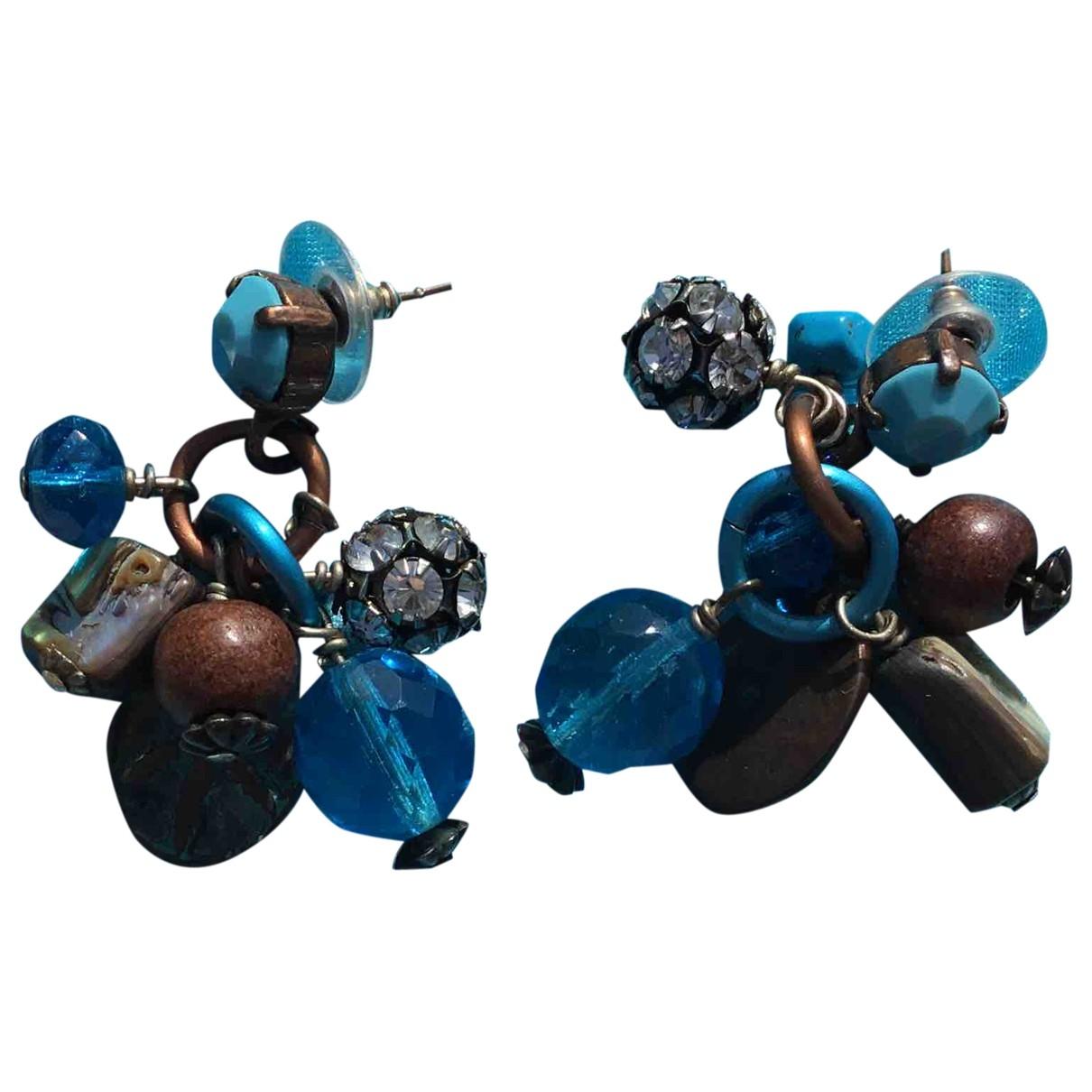 Reminiscence \N OhrRing in  Blau Perlen