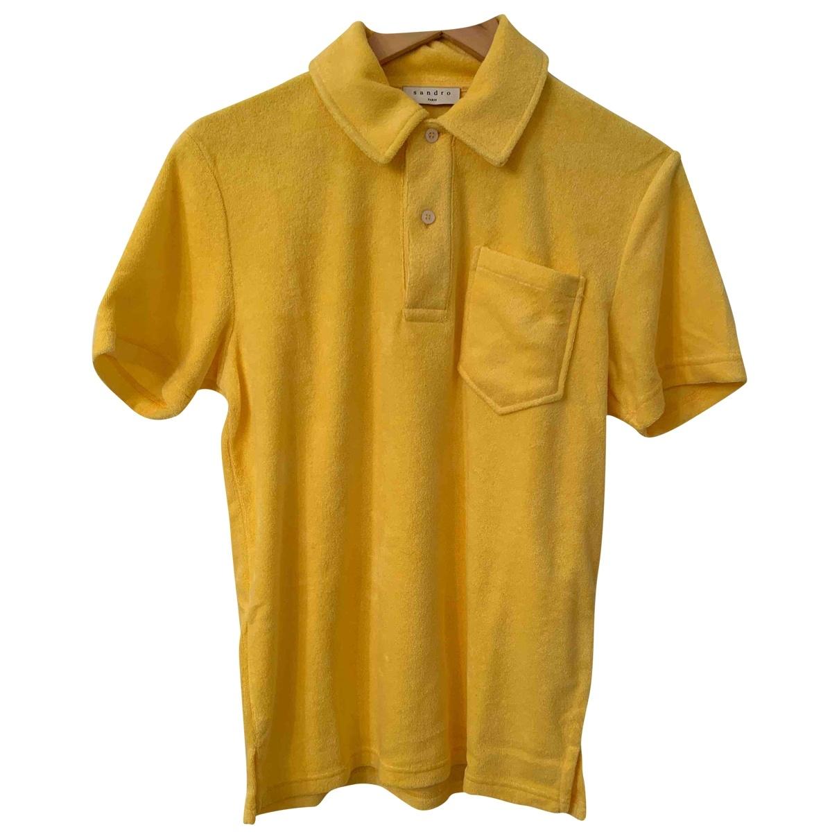 Sandro - Polos   pour homme en coton - jaune