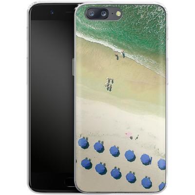 OnePlus 5 Silikon Handyhuelle - Beach Umbrellas von Joy StClaire