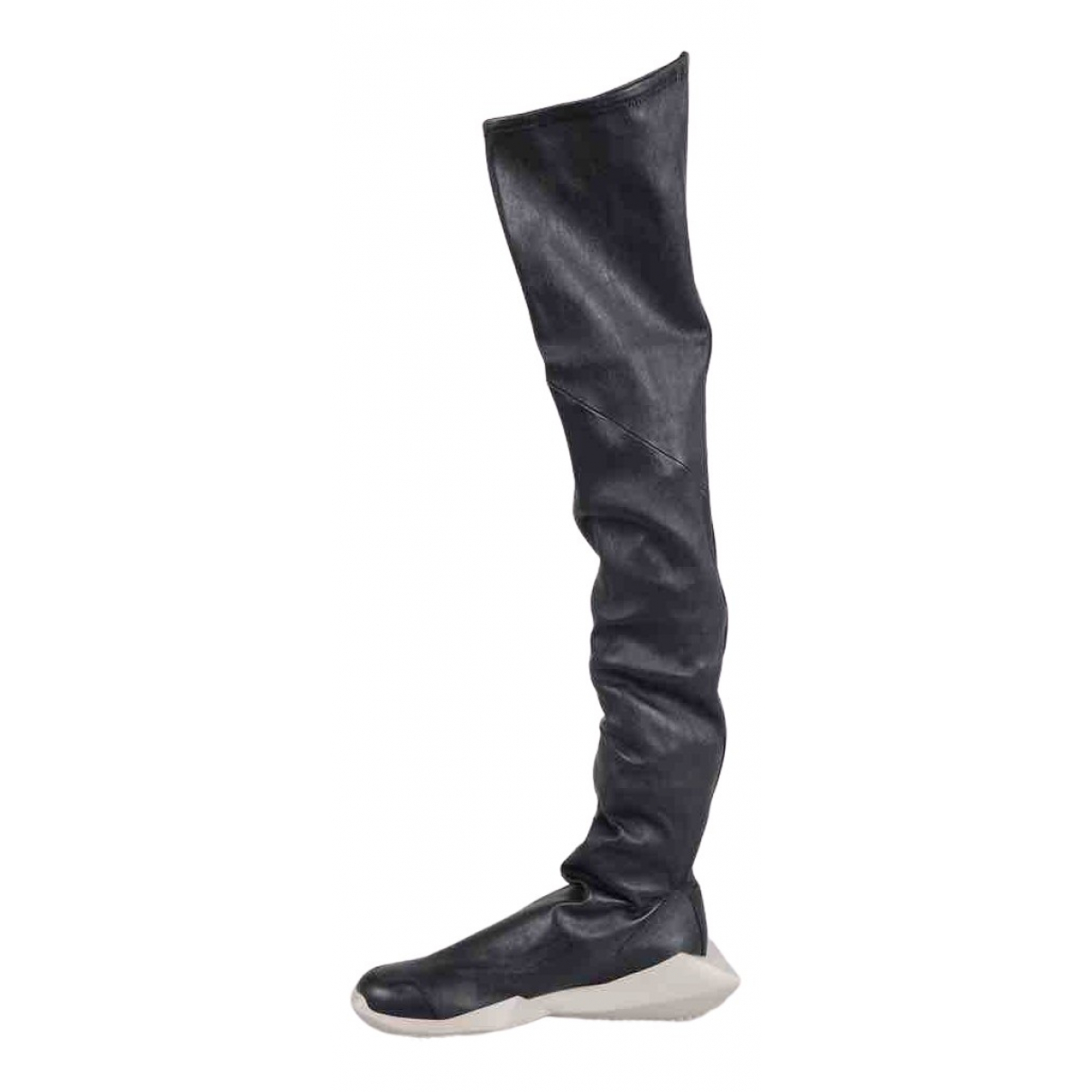 Adidas & Rick Owens N Black Leather Boots for Women 5 UK