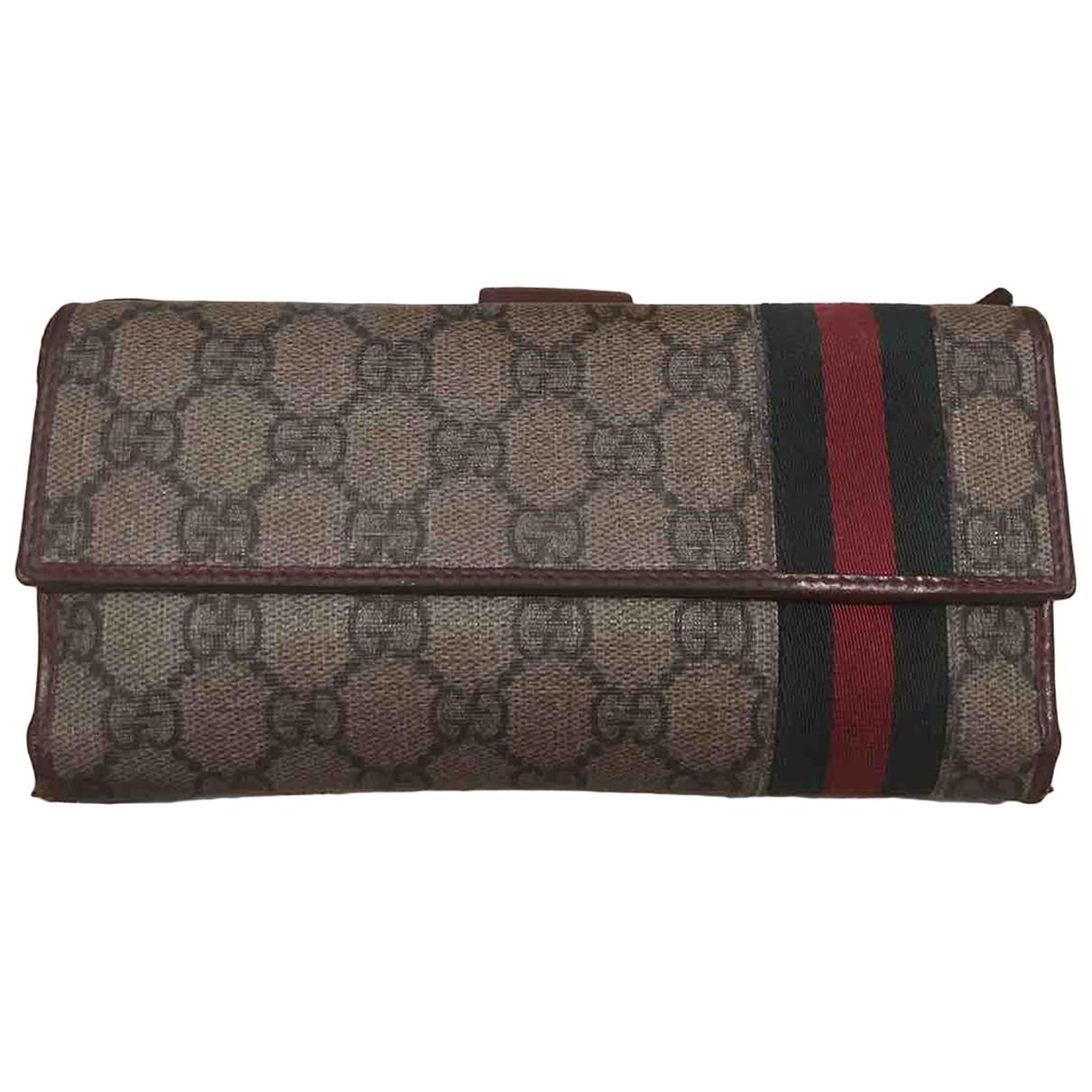 Gucci \N Portemonnaie in Leinen