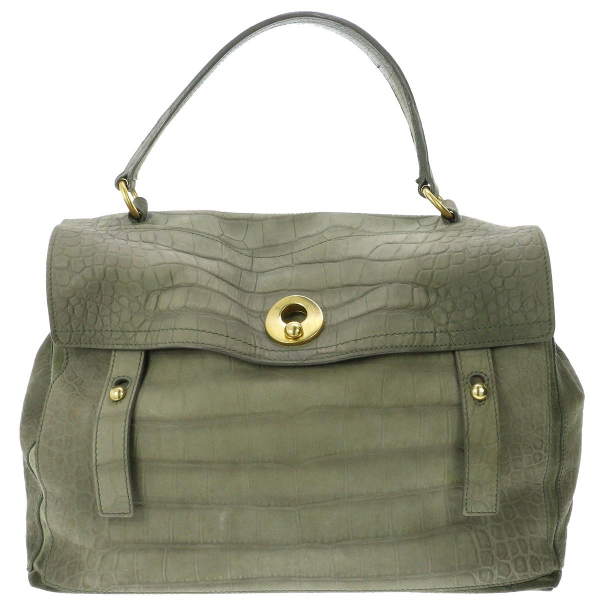 Yves Saint Laurent Muse Two Green Leather handbag for Women \N