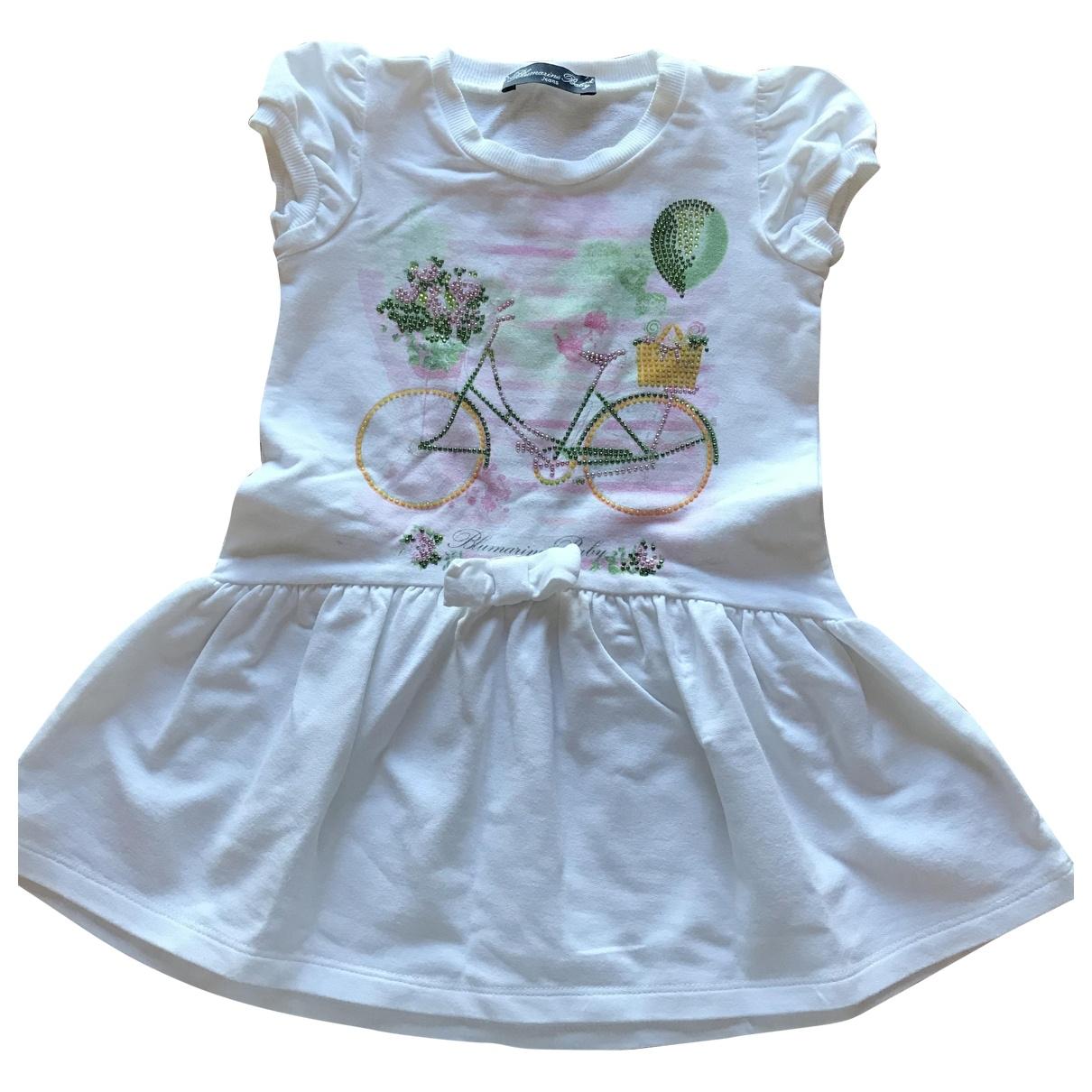 Blumarine - Robe    pour enfant en coton - blanc