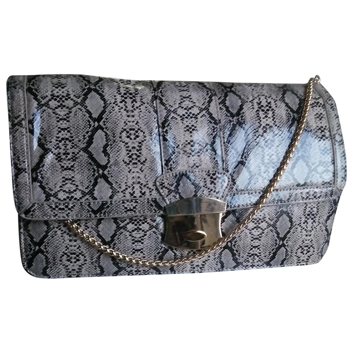Non Signe / Unsigned \N Handtasche in  Braun Wasserschlangen
