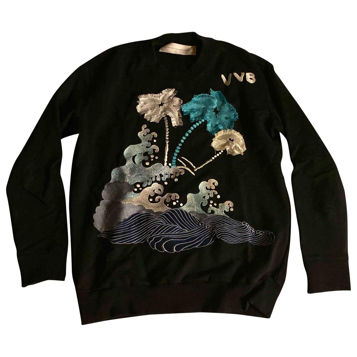 Victoria, Victoria Beckham - Pull   pour femme en coton - noir