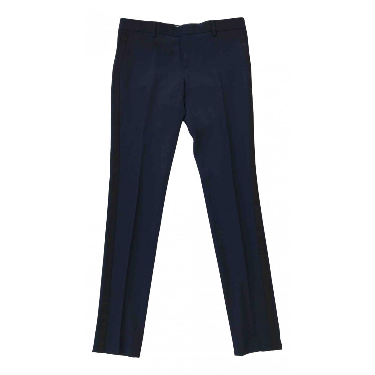 Saint Laurent - Pantalon   pour femme en soie - bleu