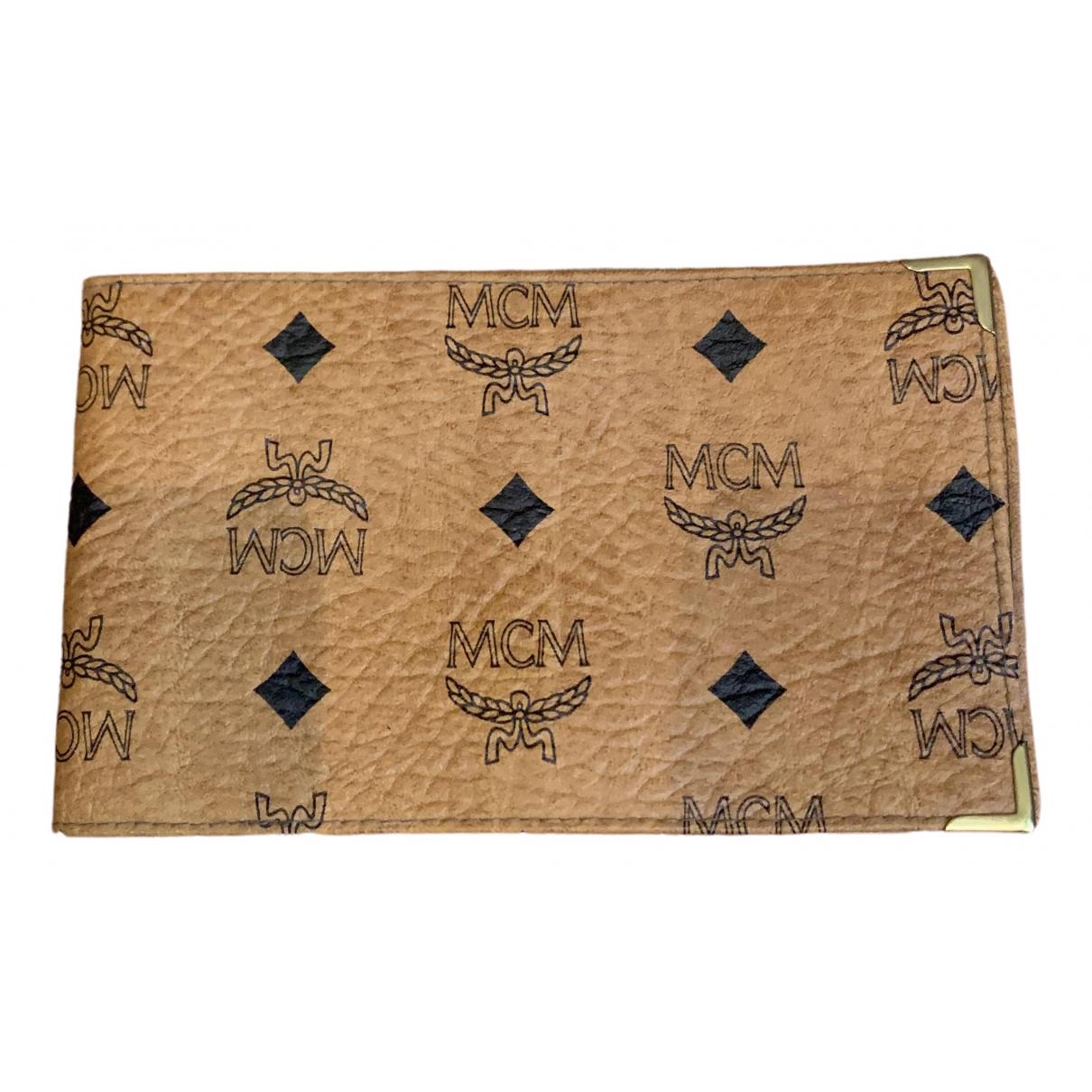 Mcm \N Beige Leather Purses, wallet & cases for Women \N