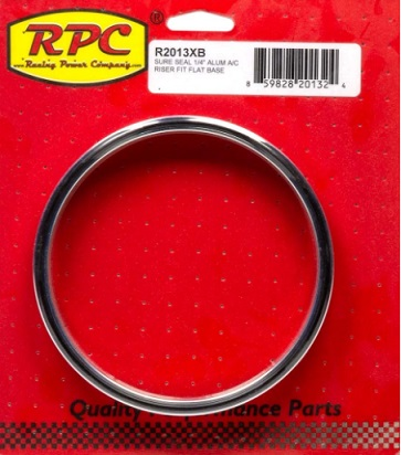 Racing Power Company R2013XB Air Cleaner Spacer, 1/4 in Thick, 5-1/8 in Carb Flange, Aluminum, Natural