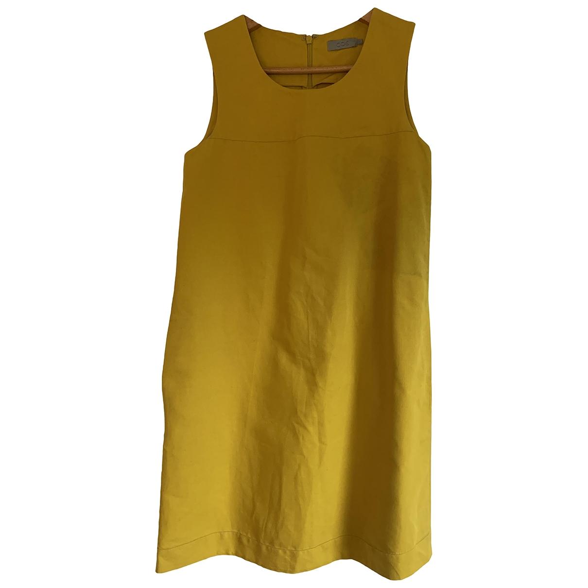 Cos - Robe   pour femme en lin - jaune