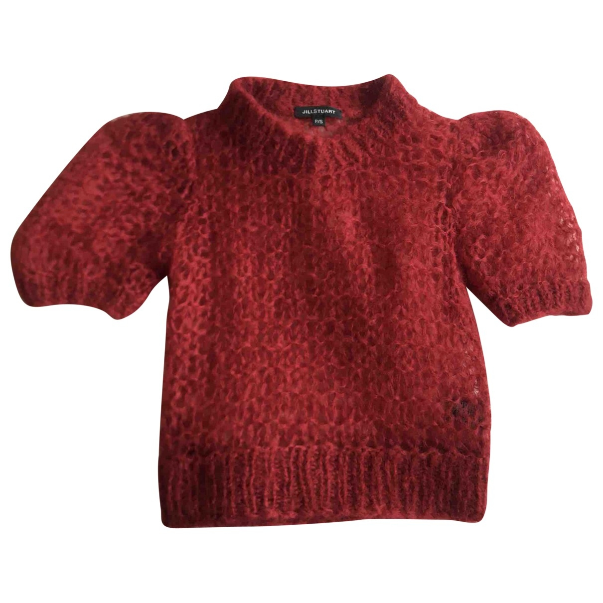 Jill Stuart - Pull   pour femme en laine - rouge