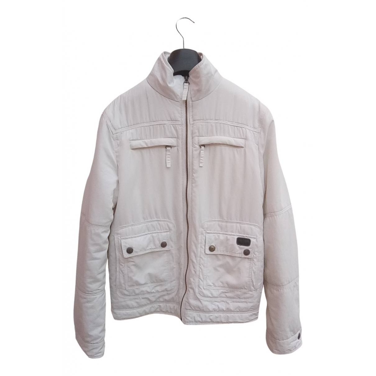 Moschino Cheap And Chic \N Jacke in  Weiss Synthetik