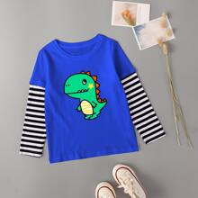 Toddler Boys Dinosaur Print 2 In 1 Tee