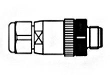 Molex Connector, 4 contacts Cable Mount Plug, Screw IP67 (25)