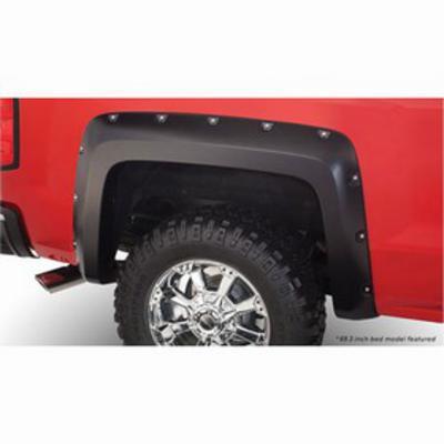 Bushwacker Chevrolet Silverado Pocket Style Rear Fender Flares (Paintable) - 40116-02