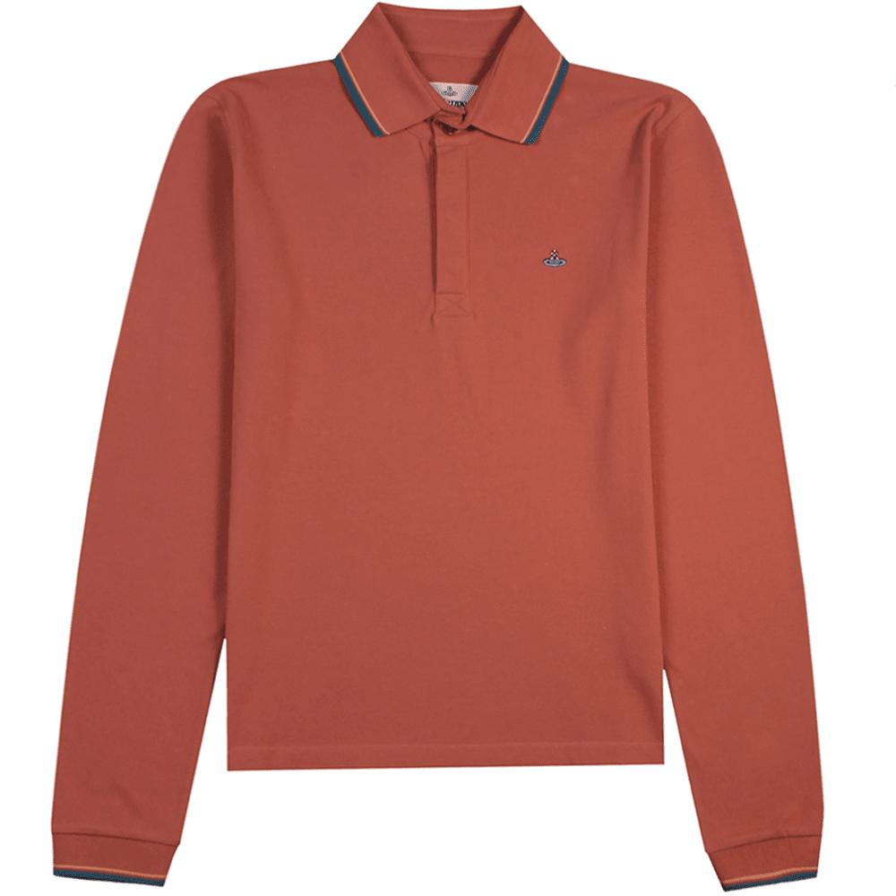 Vivienne Westwood Orb Logo Polo Shirt Colour: SALMON, Size: LARGE