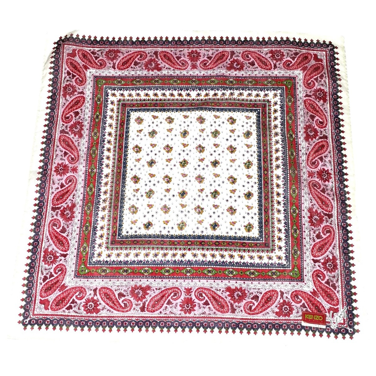 Kenzo \N Red Cotton Silk handkerchief for Women \N