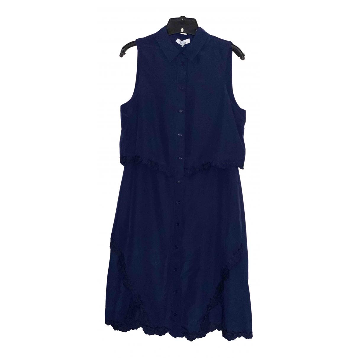 Parker Ny \N Kleid in  Blau Polyester