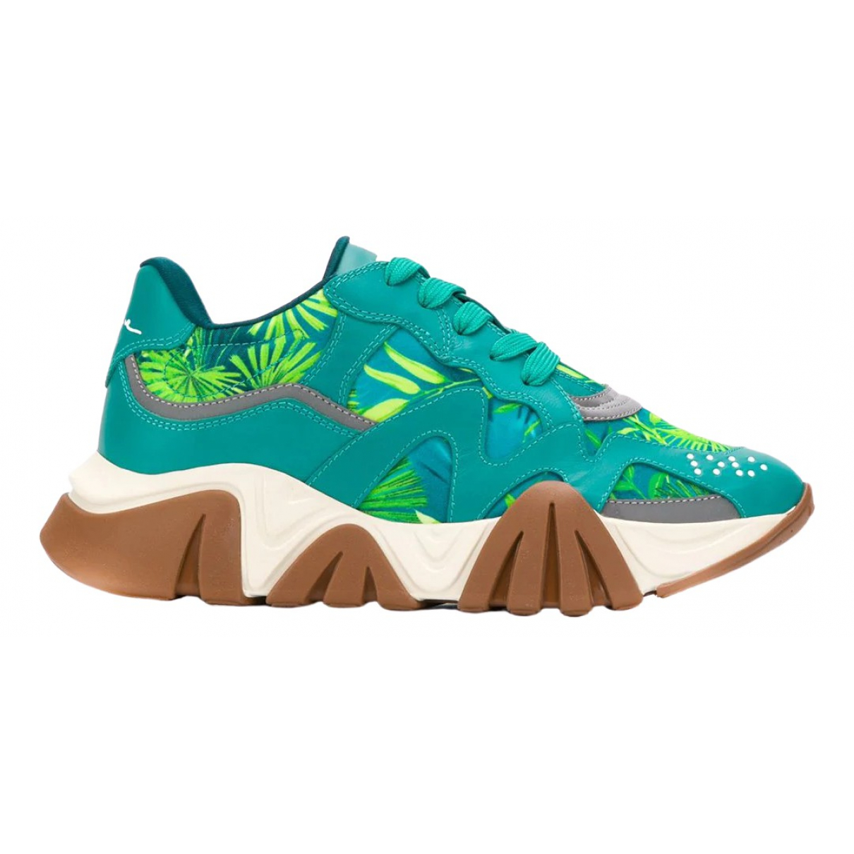 Versace \N Green Leather Trainers for Women 36 EU