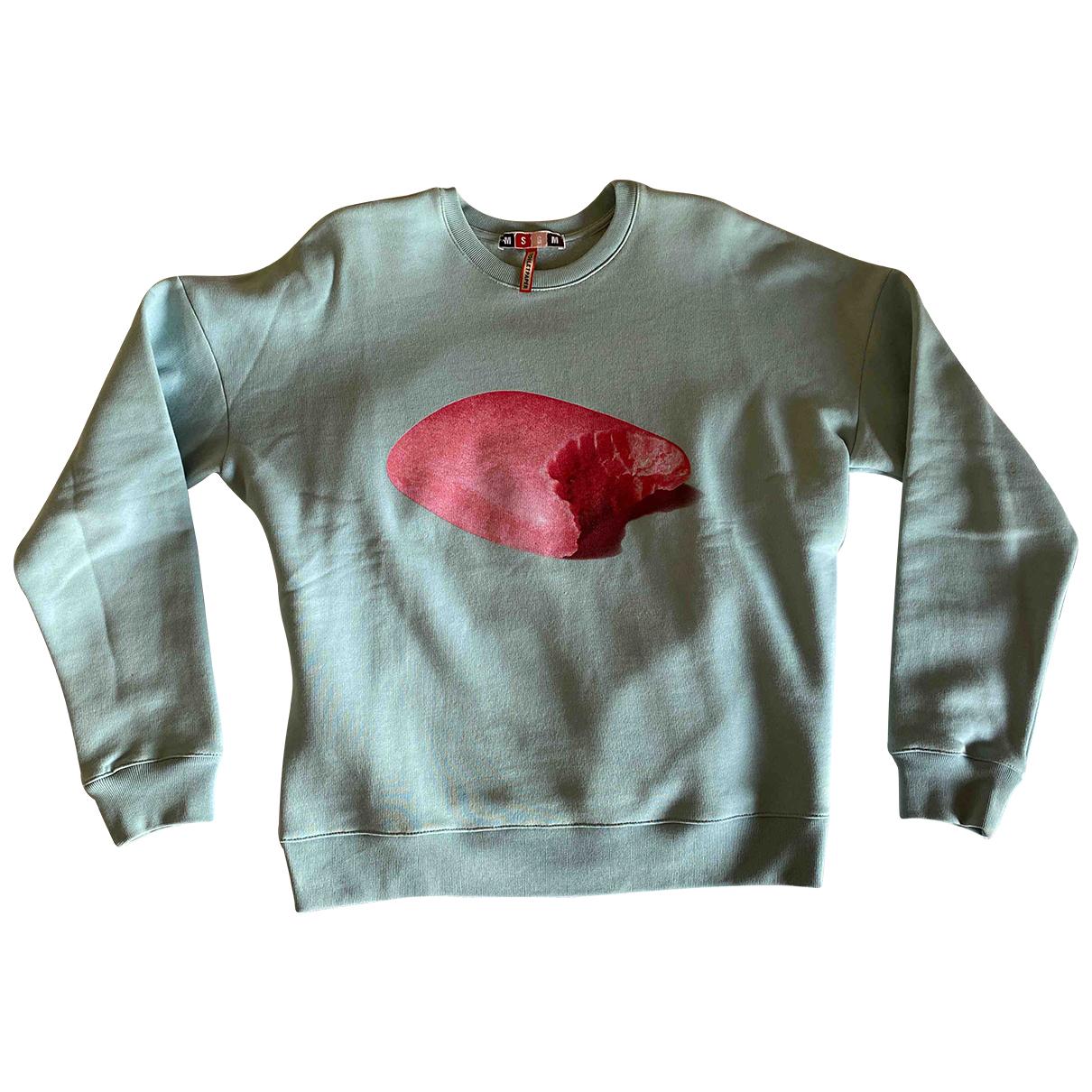 Msgm \N Pullover.Westen.Sweatshirts  in  Tuerkis Baumwolle