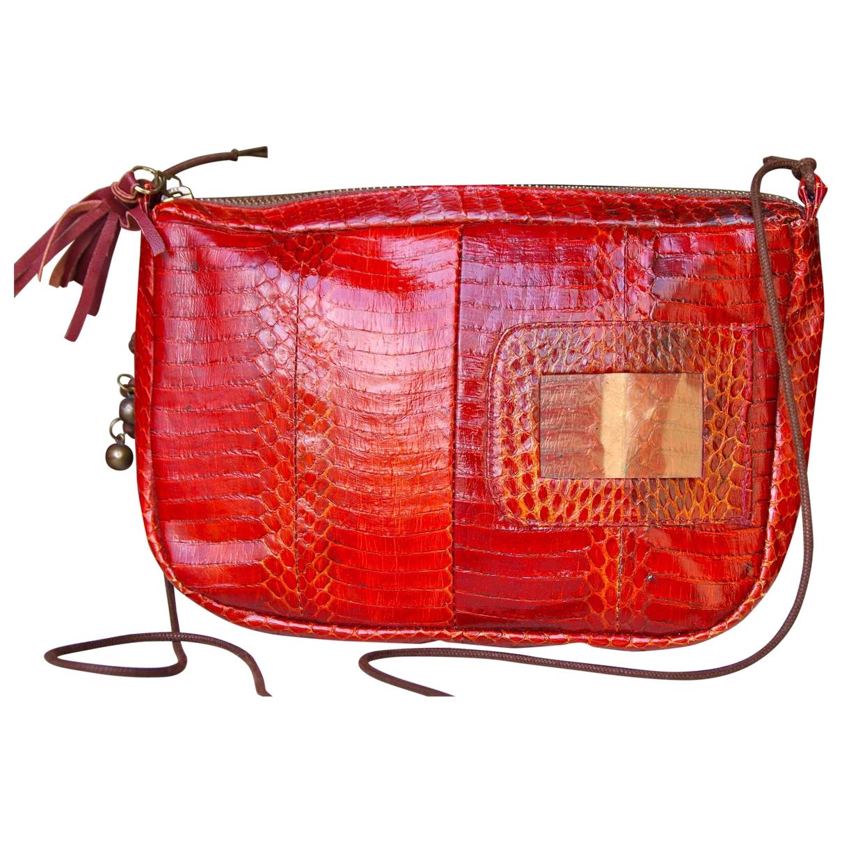 Polder \N Red Water snake handbag for Women \N
