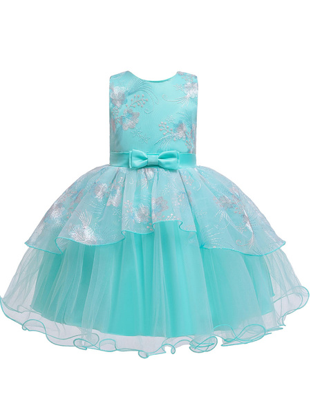 Milanoo Flower Girl Dresses Sleeveless Tutu Gown Baby Flower Girl Dresses
