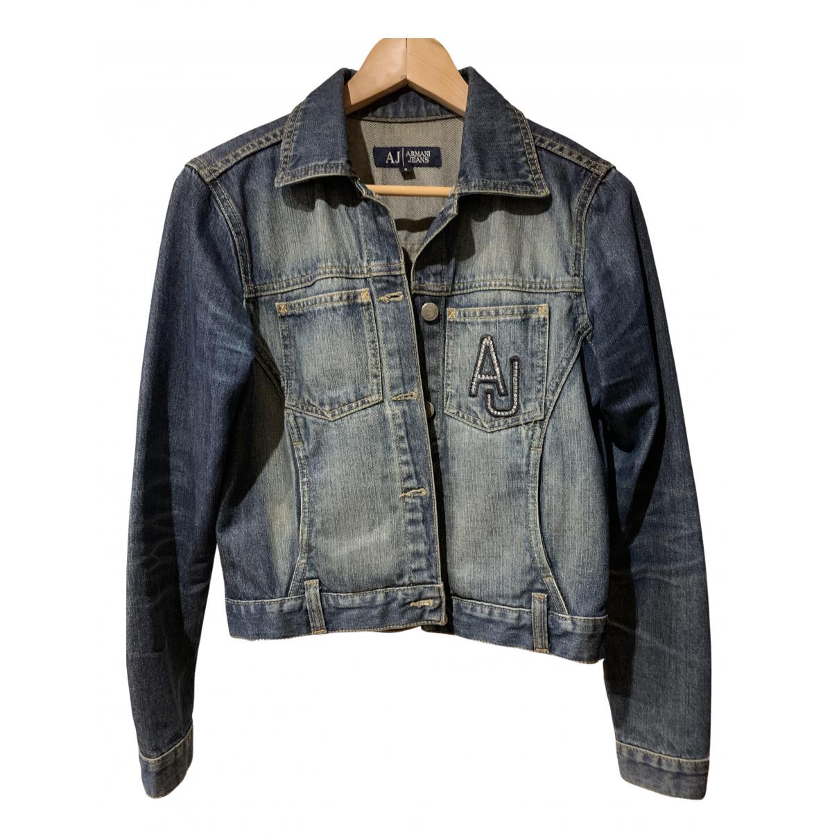 Armani Jeans N Blue Denim - Jeans Leather jacket for Women S International