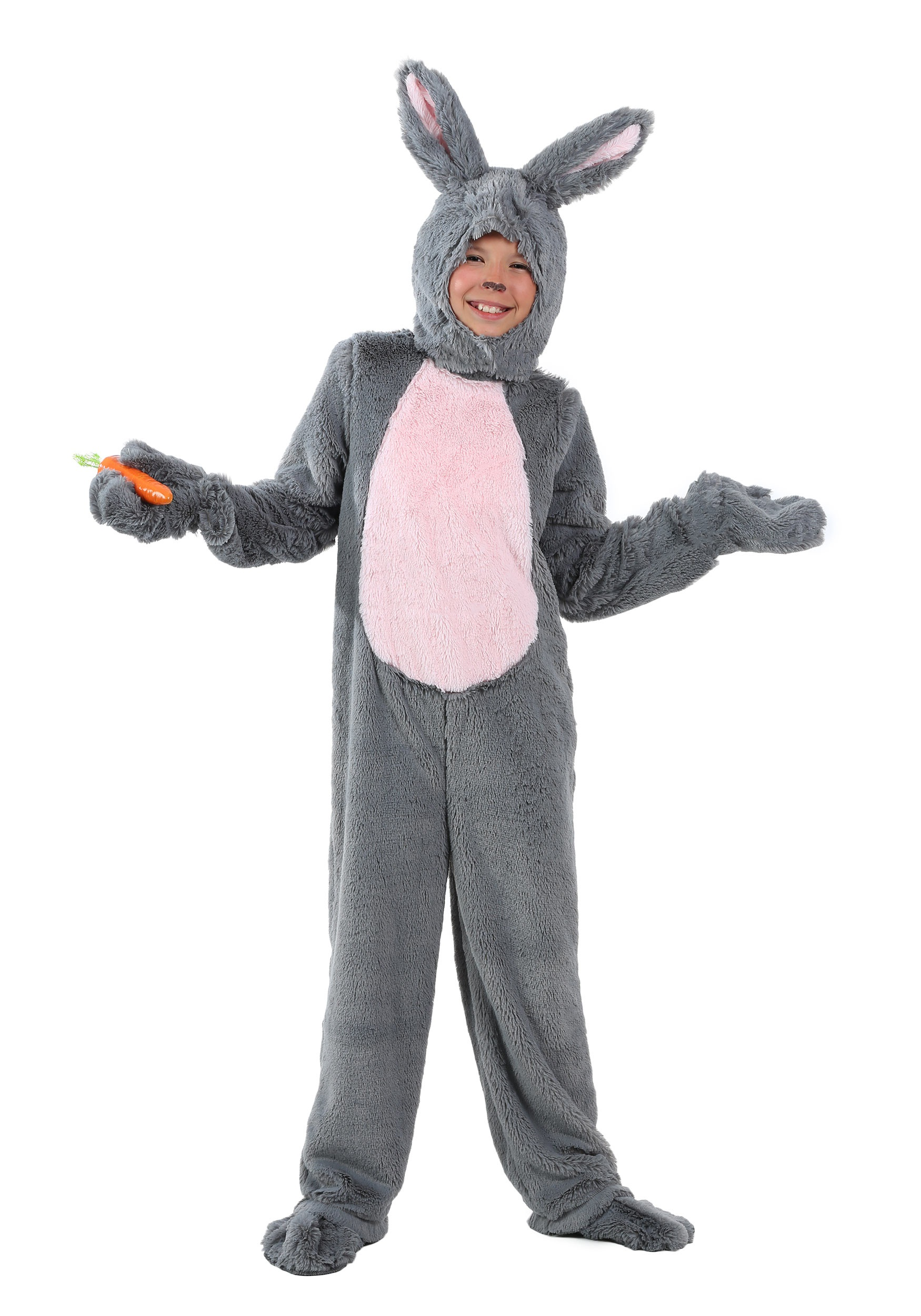 Grey Bunny Costume for Kids